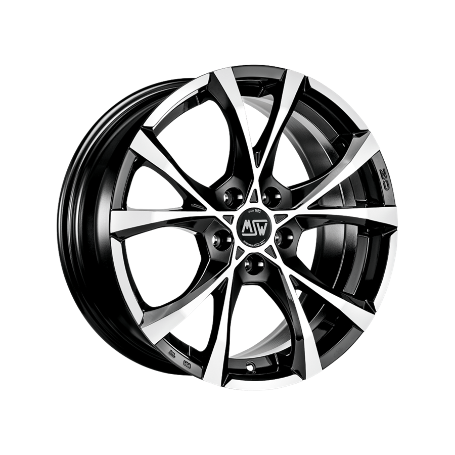 MSW Cross Over Black Full Polished #OZRACING #MSW #CROSSOVER #RIM #WHEEL