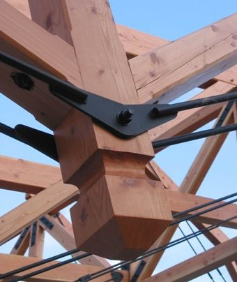 Wood And Steel Timber Frame Joint For The Home