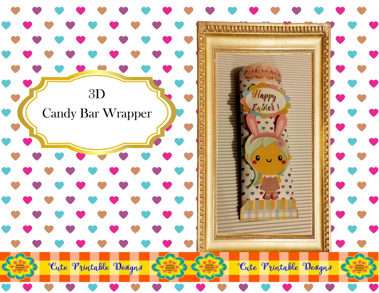 Easter Easter Candy Bar Wrapper Hersheys Bar Wrapper