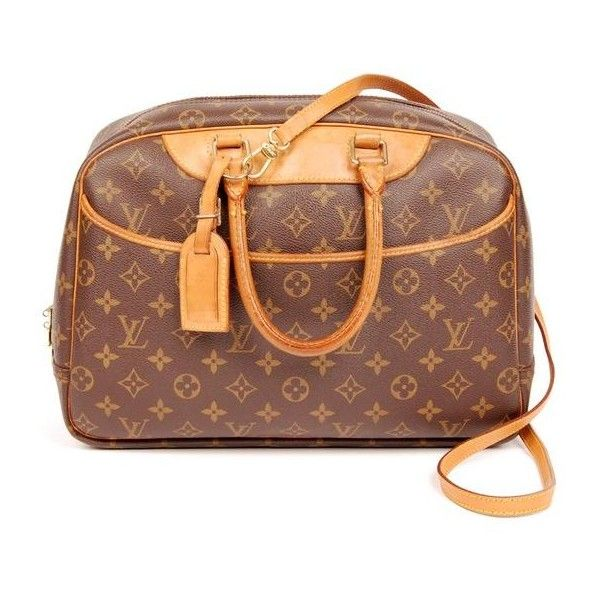 Pre Owned Louis Vuitton Deauville Gm With Strap 4280 810 Liked On Polyvore Featuring Bags Handbags Shoulder Monogram Leather Tote Bags Tote Bag Leather