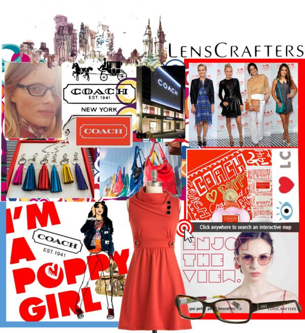 """Share Your Style with LensCrafters and Coach"" by anne-symanski-goranson ❤ liked on Polyvore"