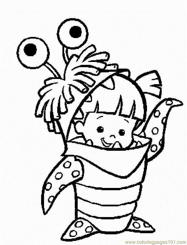 Coloring Pages Boocolor Cartoons Monsters Inc Free Printable Coloring Page Online Monster Crafts Coloring Pages Disney Coloring Pages