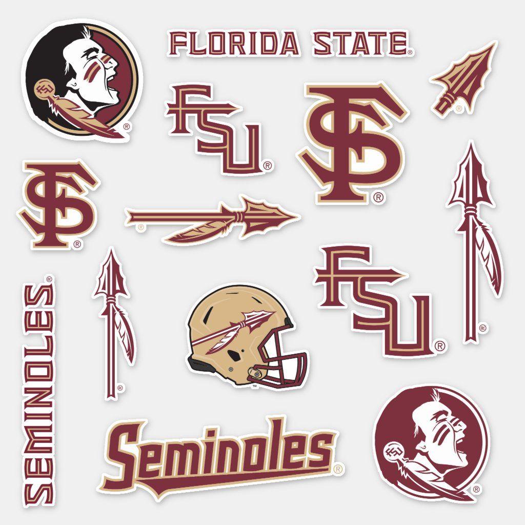 Fsu Florida State Seminoles Logos Sticker Zazzle Com Florida State Seminoles Logo Florida State Seminoles Florida State [ 1024 x 1024 Pixel ]