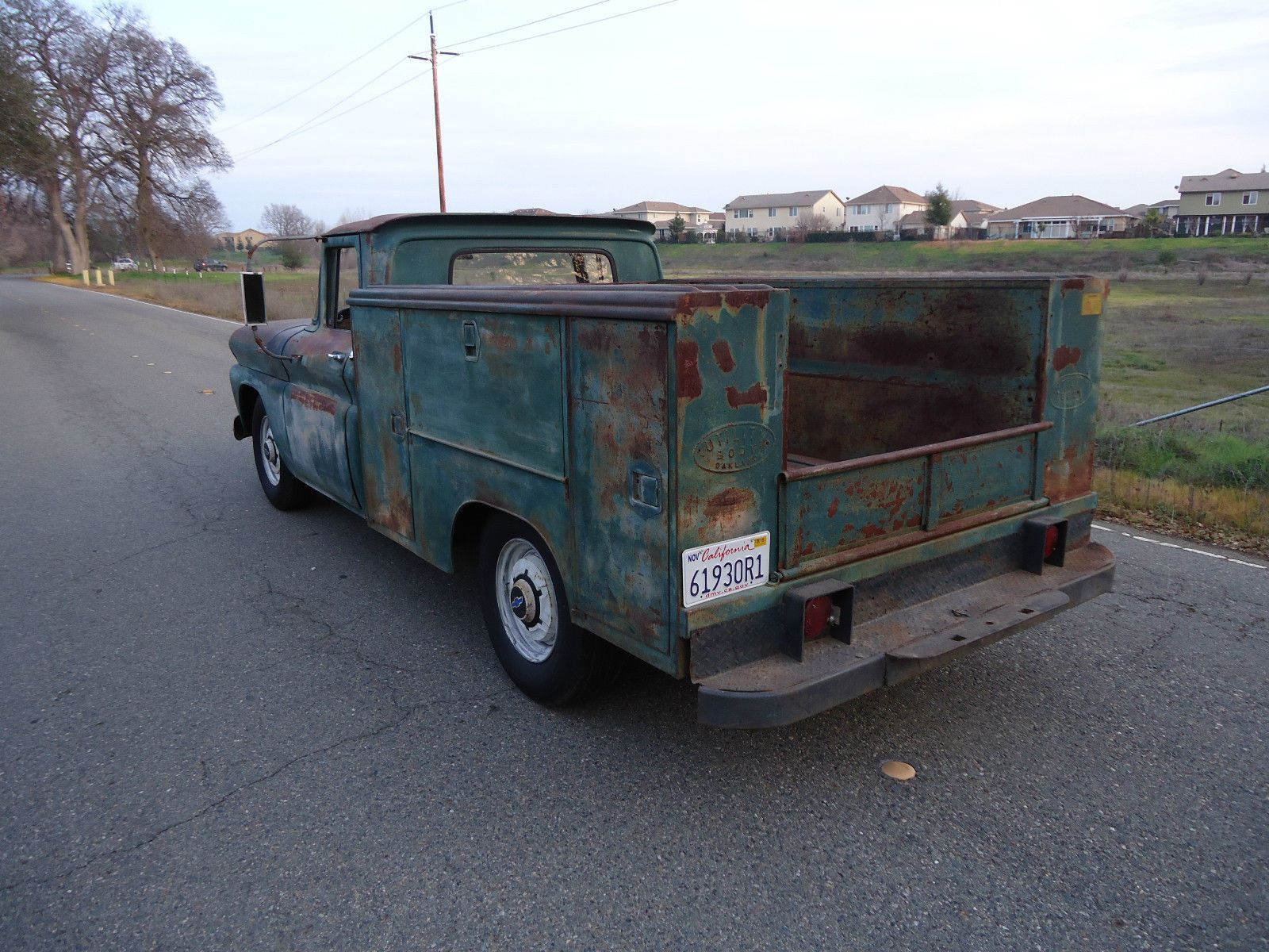 California Native 1961 Chevy Utility Bed Truck With Natural Patina