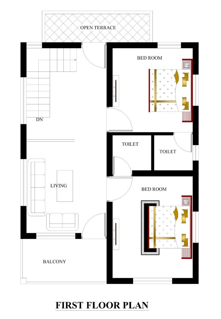 22x31 House Plans For Your Dream House House Plans 2bhk House Plan Single Storey House Plans Model House Plan