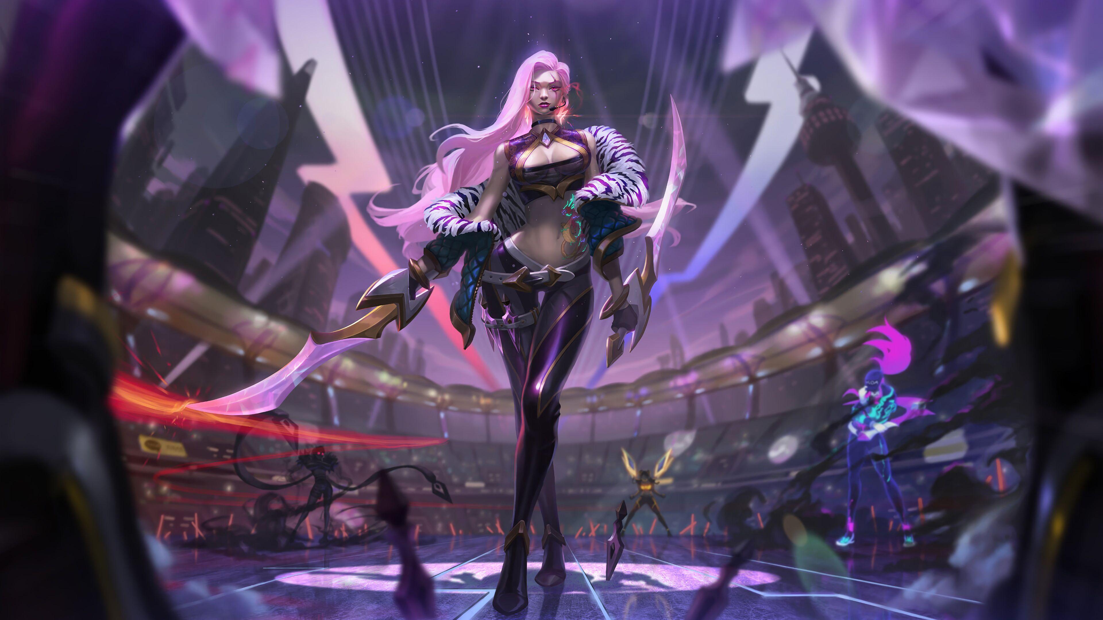 Kda Katarina League Of Legends 4k League Of Legends Wallpapers Katarina League Of Legends Wallpapers League Of Legends League Of Legends Support Fantasy Girl
