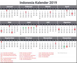 Kalender Indonesia 2019 Dengan Hari Libur Nasional Surat Kabar Xyz Kalender Indonesia Surat