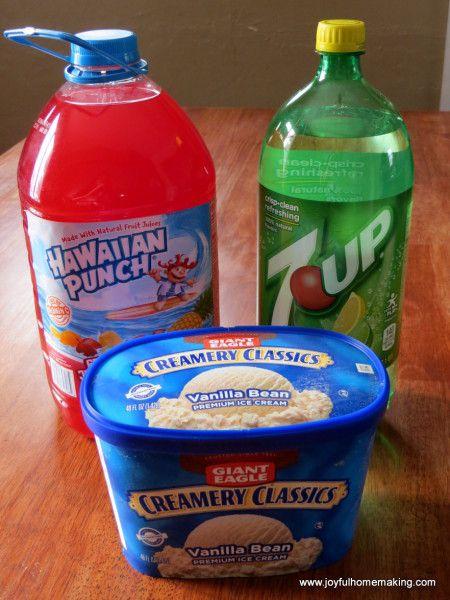 Punch with Vanilla Ice-Cream - Joyful Homemaking