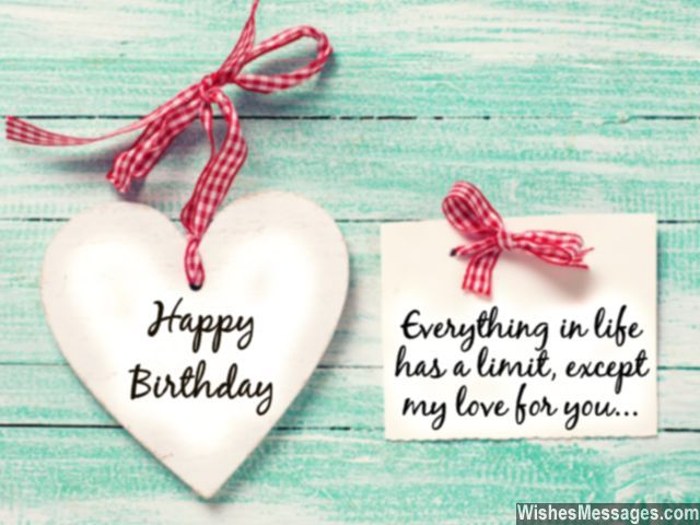 Romantic birthday wishes for him husband heart greeting card – Romantic Birthday Greeting Cards