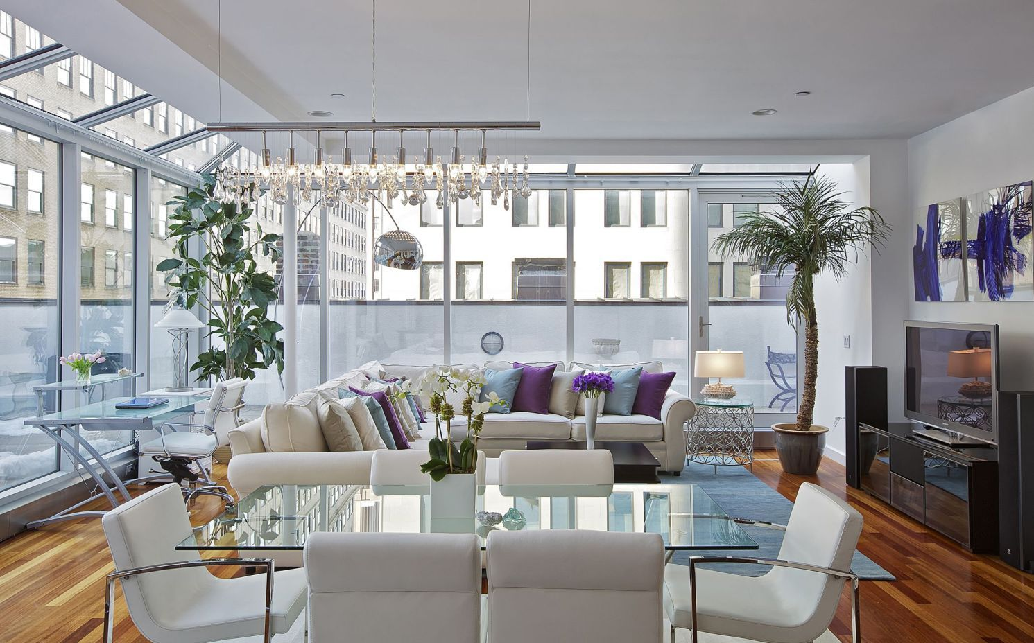 Bring your living room with a dining