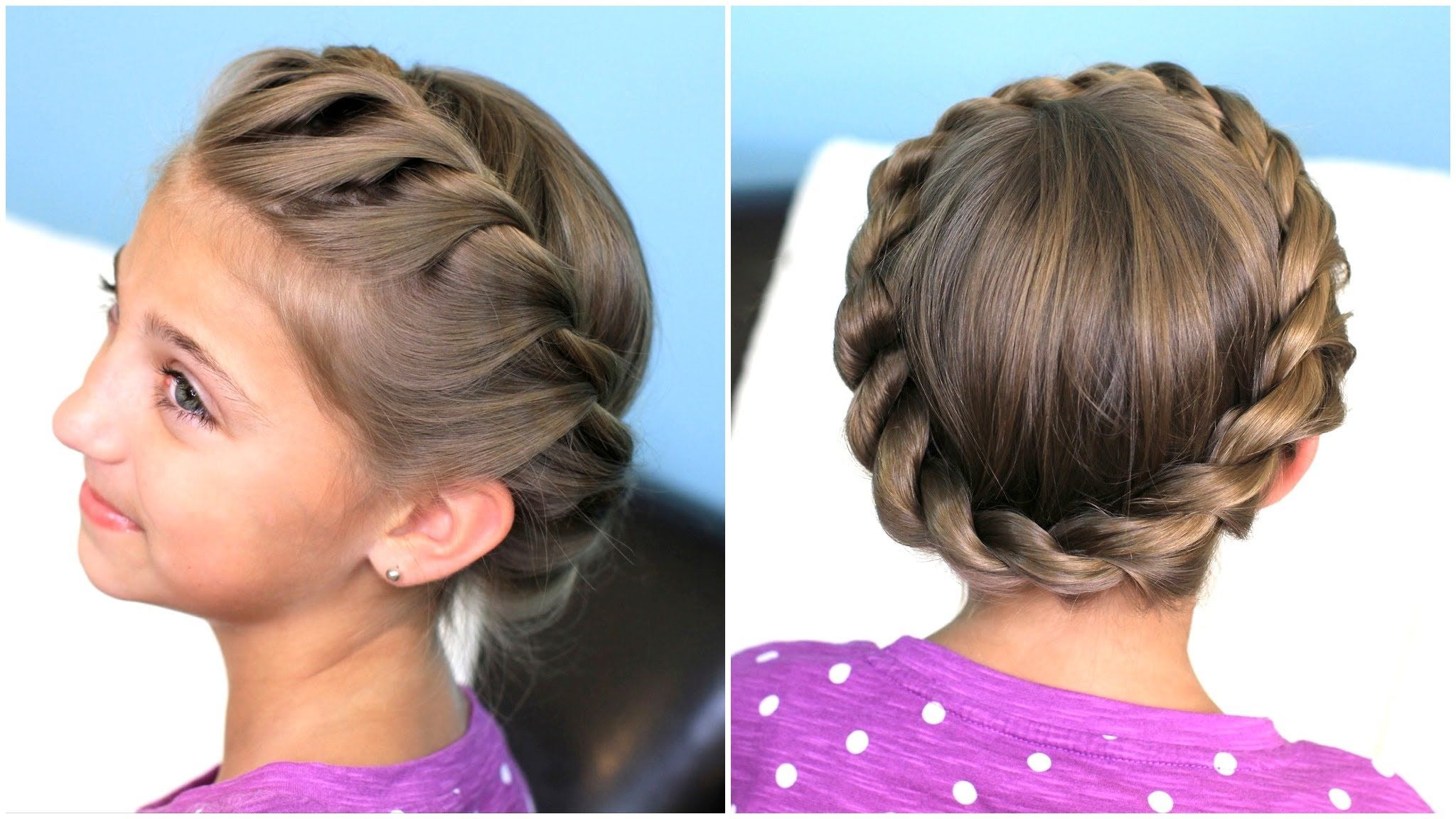 Twist Hairstyle Prepossessing How To Create A Crown Twist Braid  Updo Hairstyles  Hair 2