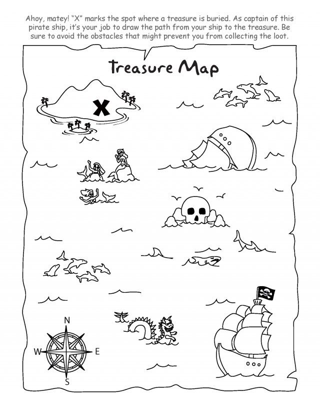 Pirate Treasure Map Coloring Page Coloring Pages Amp Pictures Car