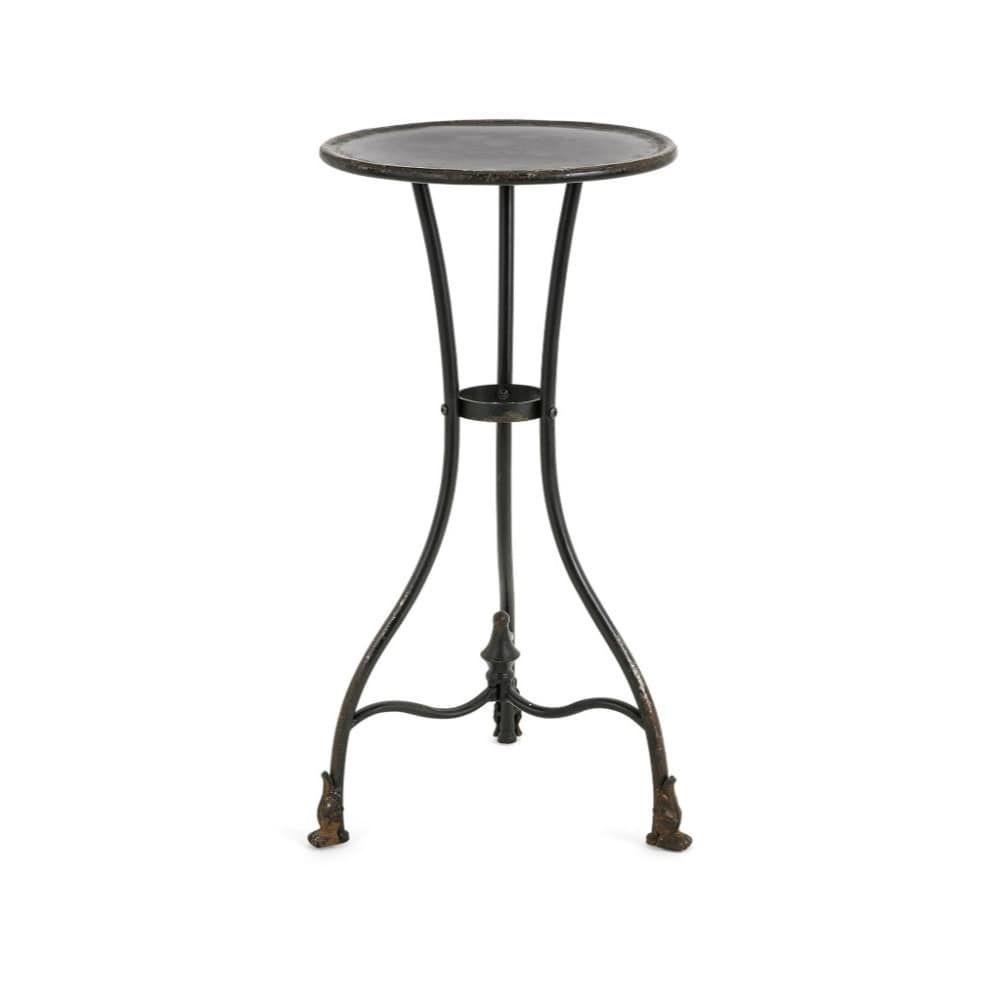 Cliffton Metal Accent Table Small Benzara Black