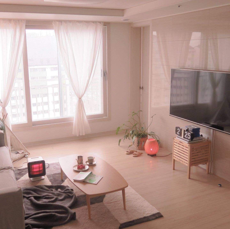 pinjane ewe on living room  korean apartment interior