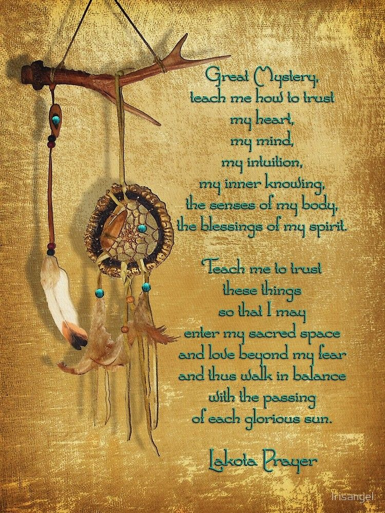 'Lakota Prayer Dream Catcher' Poster by Irisangel #nativeamericanindians