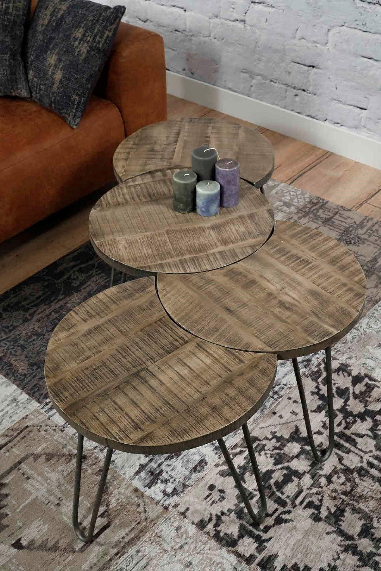 table basse modulable ronde couleur