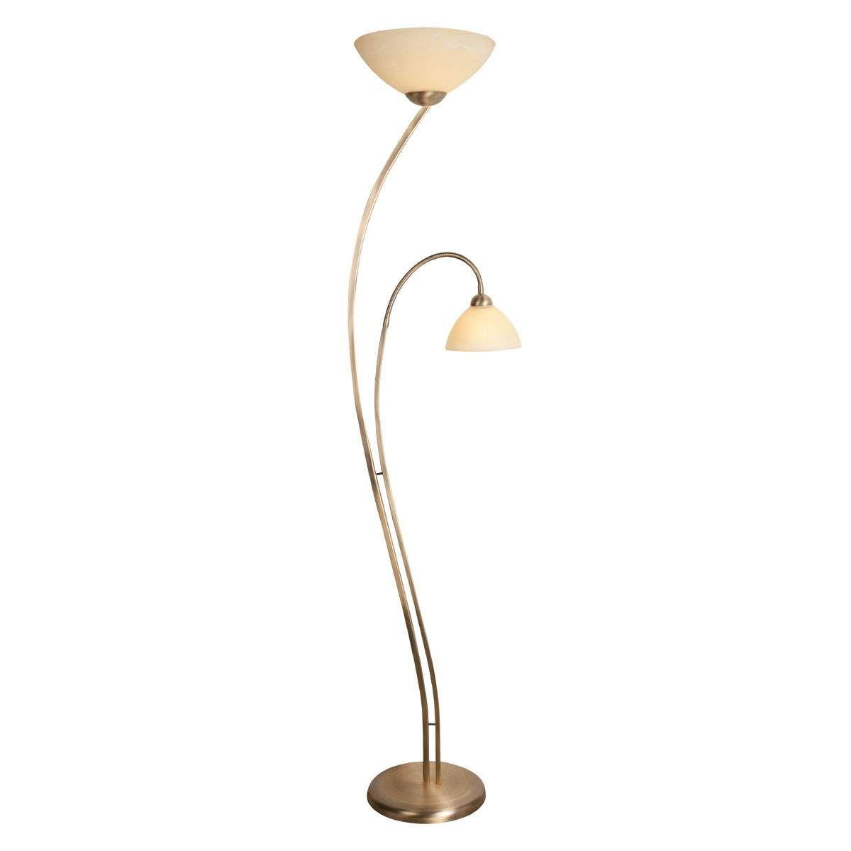 Stehleuchte Capri 2fl Creme Bronze Led Stehlampe Bronze