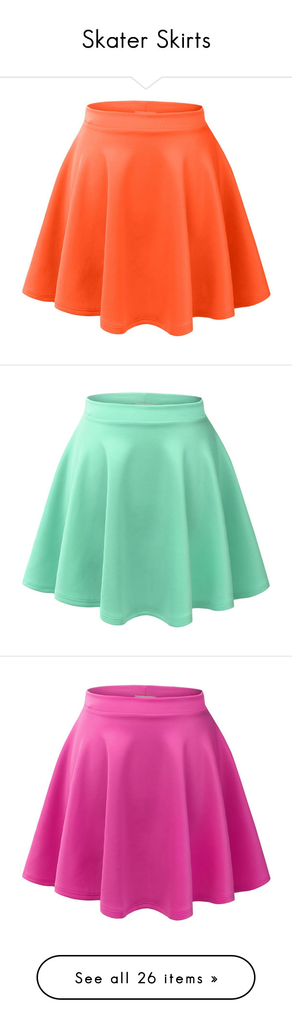 """""""Skater Skirts"""" by mariej-s on Polyvore featuring skirts, mini skirts, flared skirt, skater skirt, stretch mini skirt, stretchy skirts, flared hem skirt, bottoms, green circle skirt and green skater skirt"""