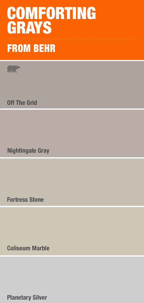 Comforting Greys Paint Colors For Living Room Painting Bathroom