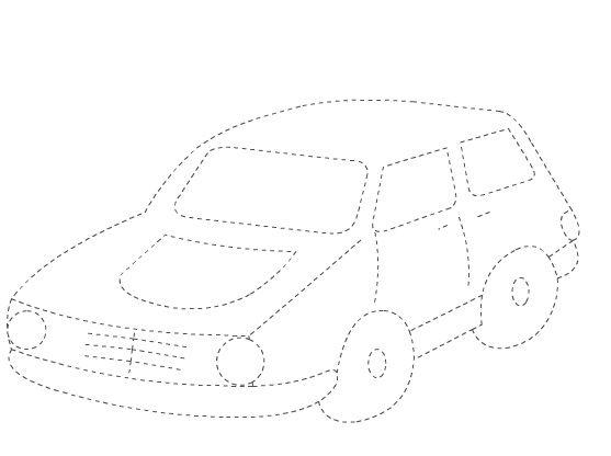 Araba çizgi çalışması Okul öncesi çocuklar Için Güzel Bir çizgi