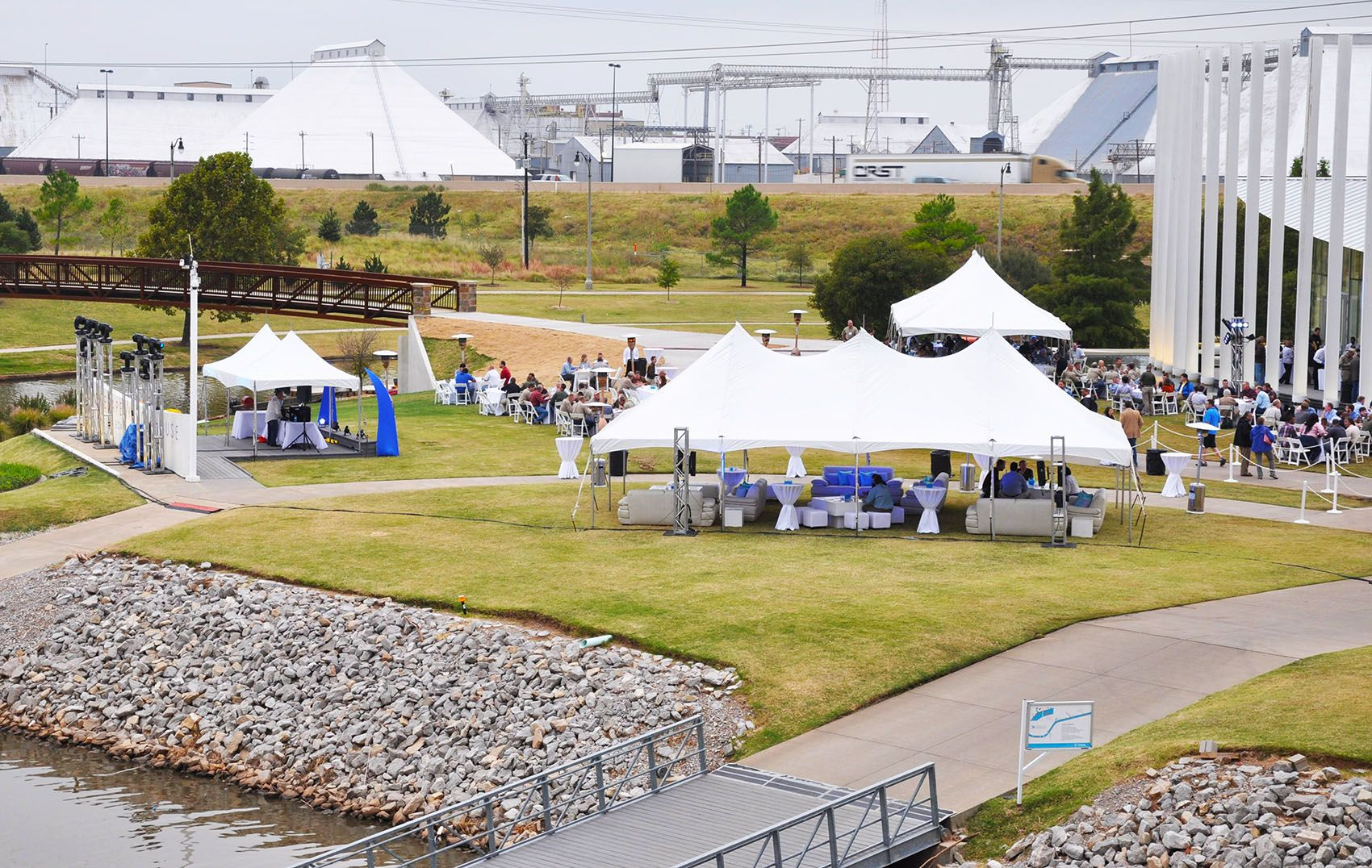 Tents By The Boathouse Okc Party Wedding Rentals
