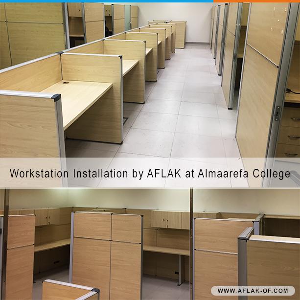 Workstation #OfficeFurniture Installation By #Aflak At