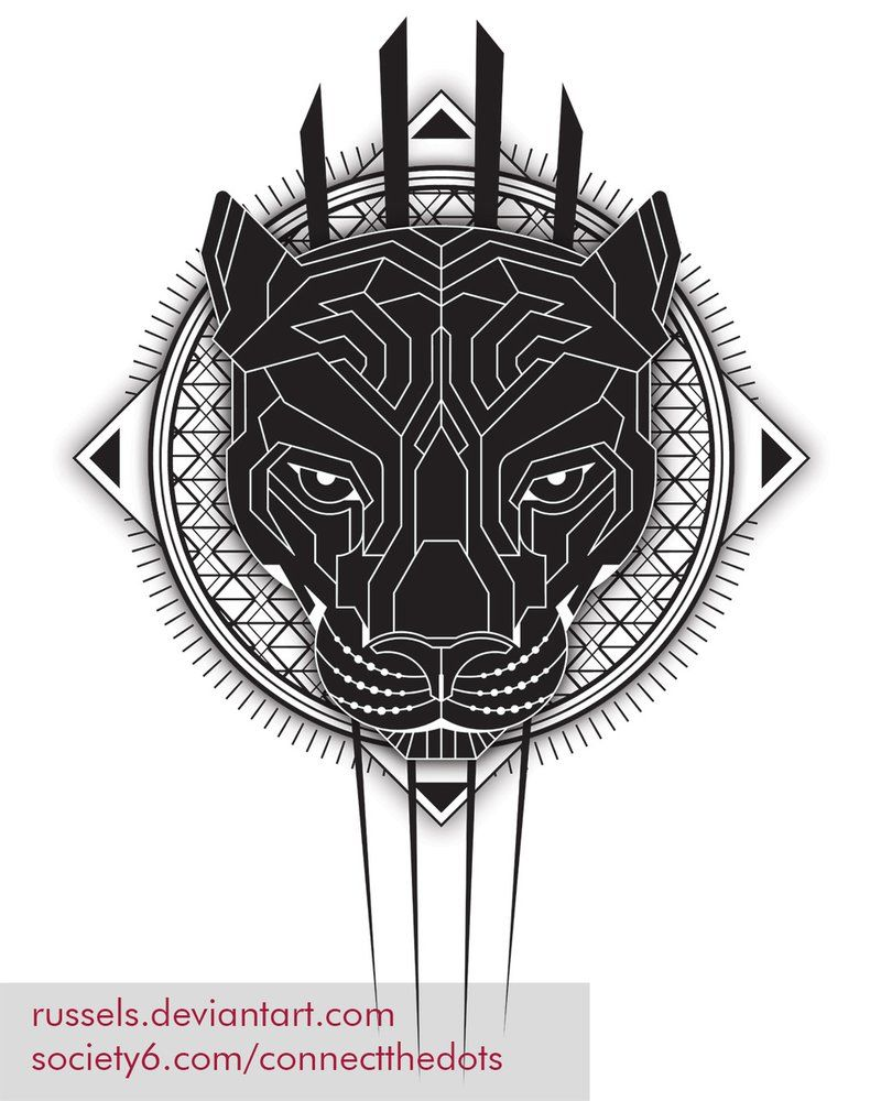 Geometric Black Panther Web By Russels Deviantart Com On