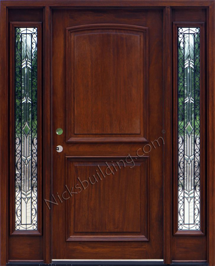 Beautiful solid Wood Entry Doors with Sidelights