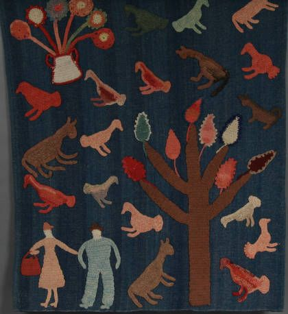 """This cow blanket was made by Kate Clayton Donaldson (ca. 1864-1960), more commonly known as """"Granny"""" Donaldson, of Marble, North Carolina."""