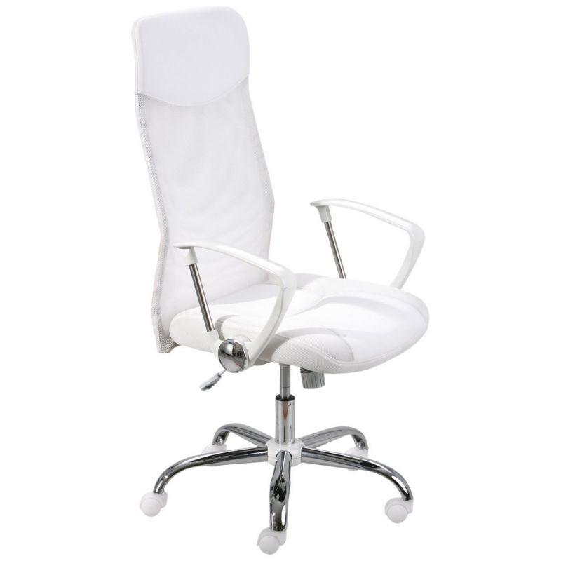 Chaise De Bureau Blanche Fauteuil De Bureau Blanc Fiori Chaise De Direction Roulettes Office Chair White Office Chair Chair