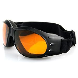 Cruiser Goggles, Black Frame, Anti-fog Amber Lens