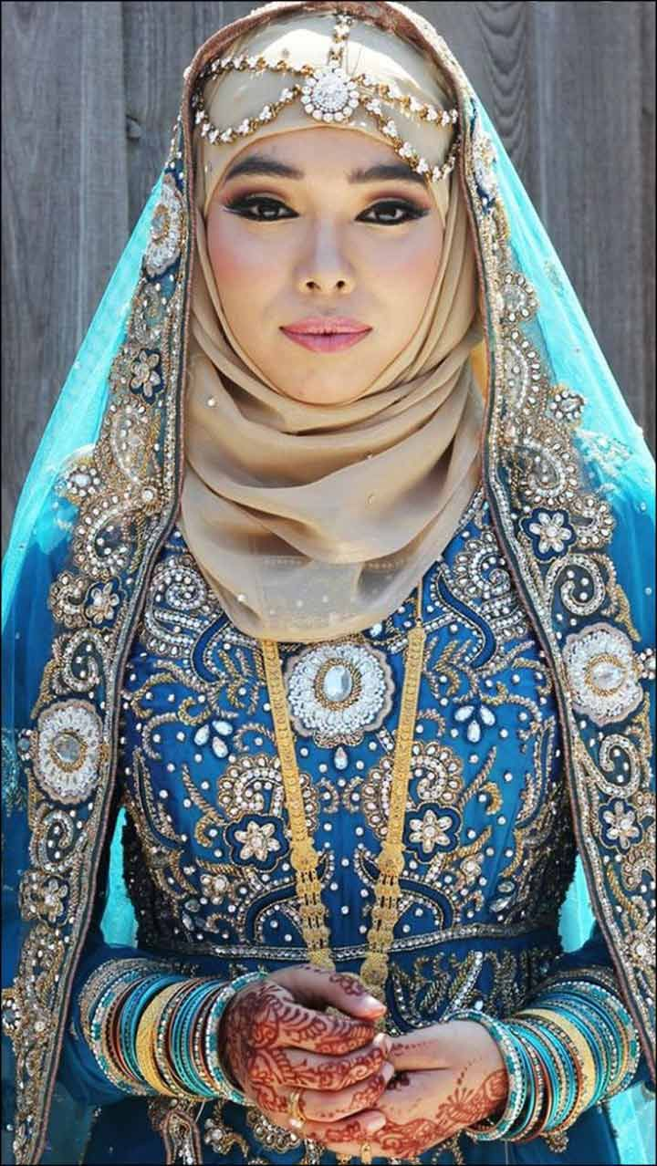 Royal Blue Muslim Bridal Dress | iClassy Cultural /Culturally ...