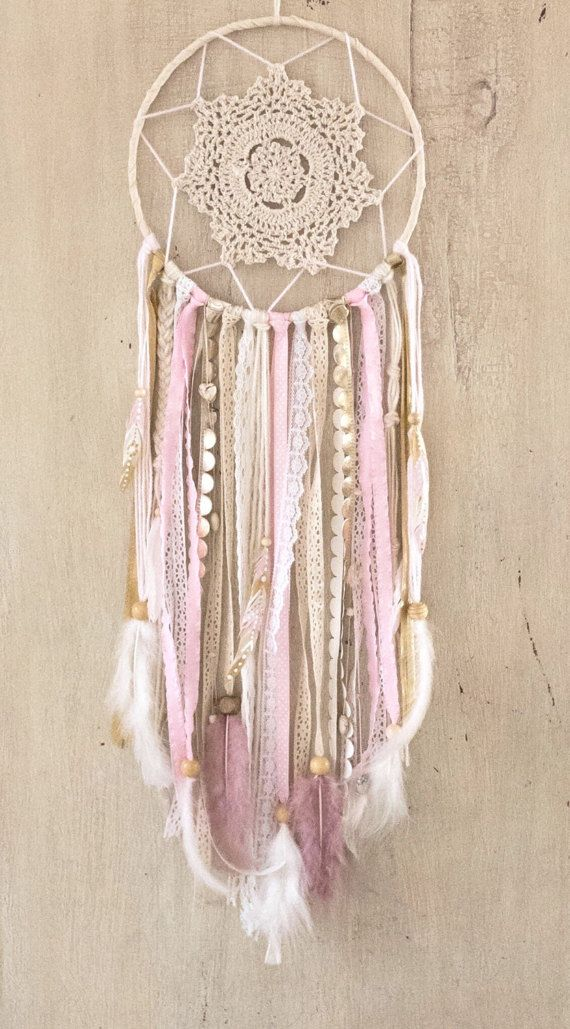 Pink And Gold Dream Catcher Pink Dreamcatcher By