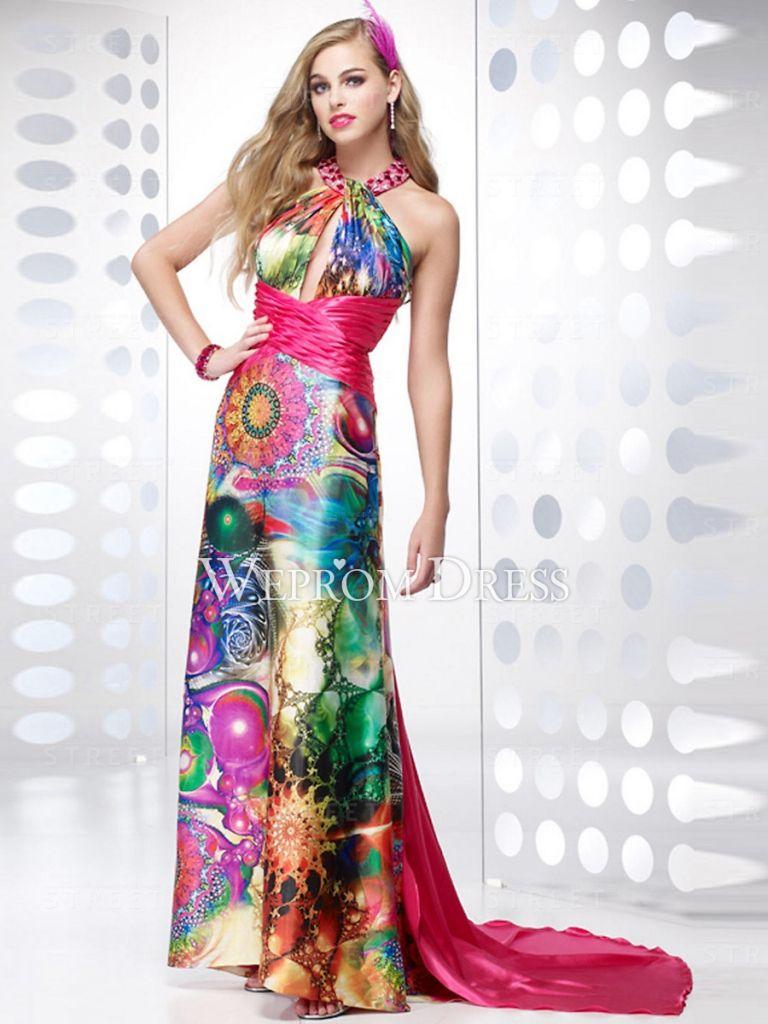 Multi colored evening dress