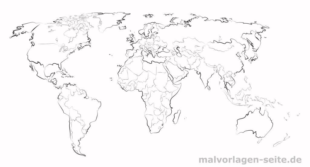 Weltkarte Landkarte Der Welt Weltkarte Zum Ausmalen Weltkarte Basteln Weltkarte