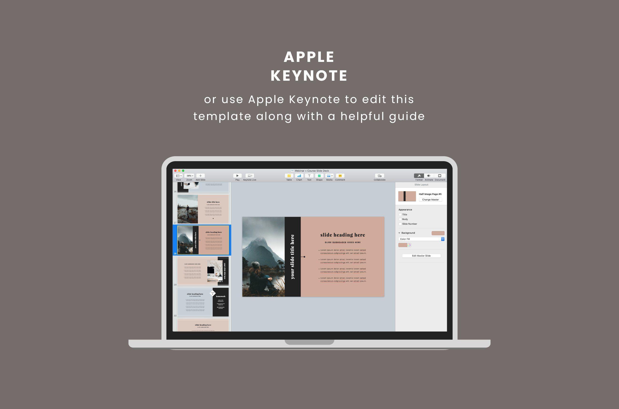Webinar Course Slide Deck Workbook Template Pinterest Templates Magazine Template