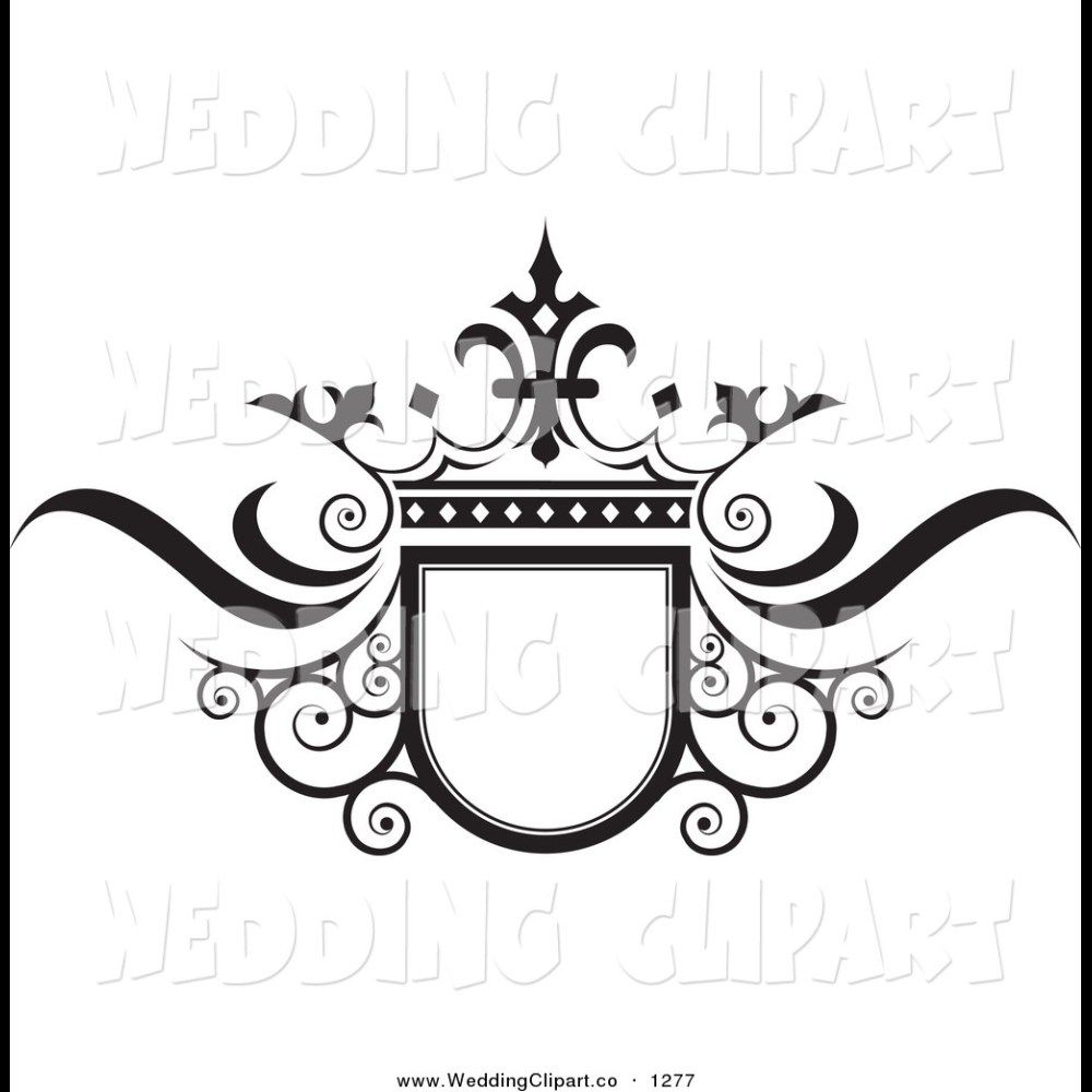 Wedding logo. Ornate black and white