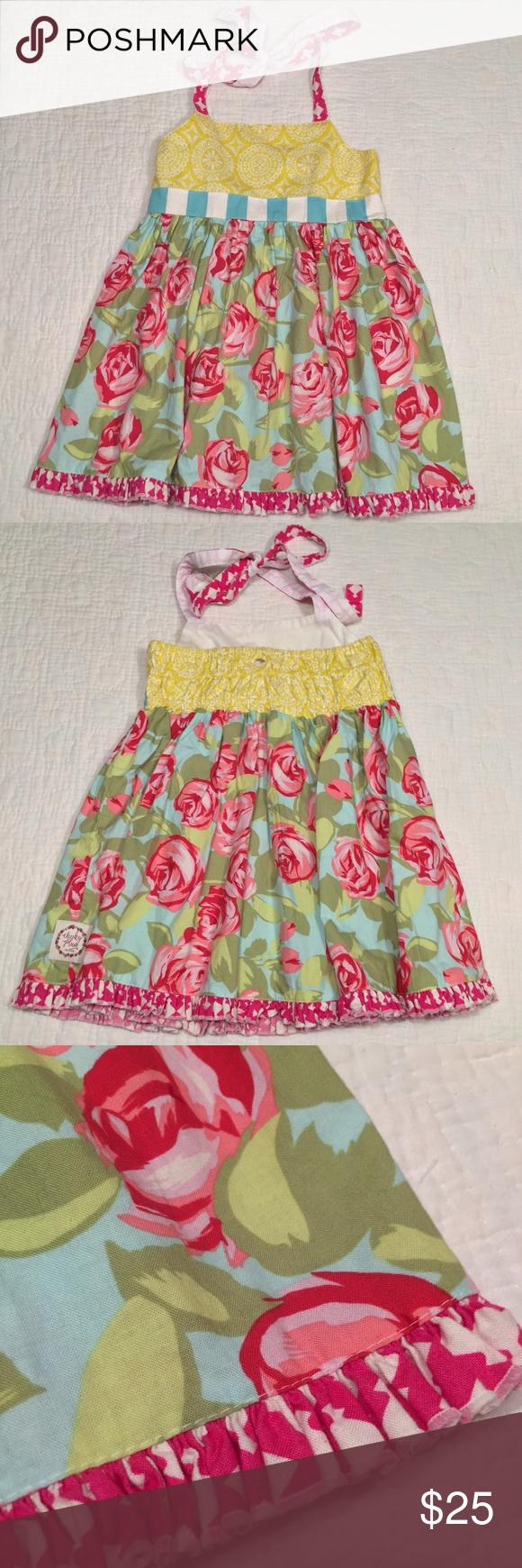 Cheeky plum floral rose halter ruffle dress in my posh picks