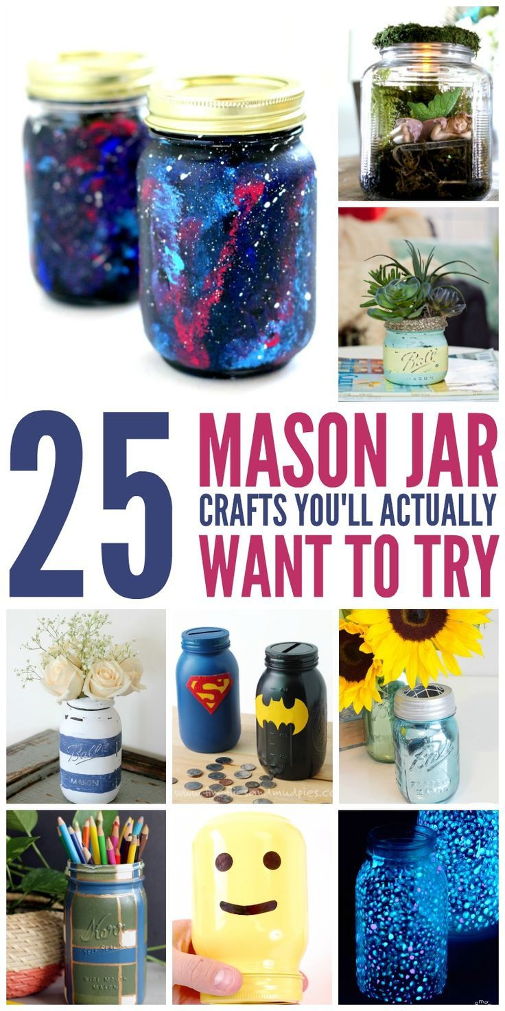 25 Mason Jar Crafts You'll actually want to Try -
