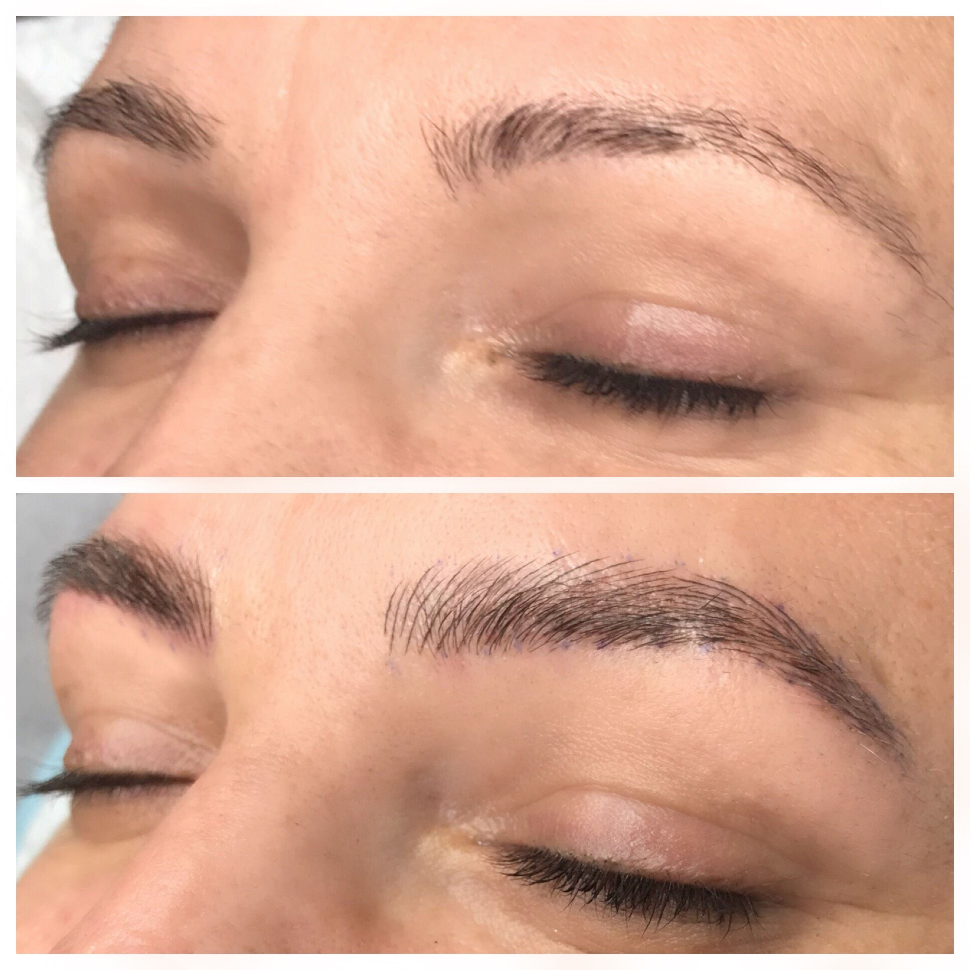 New, fluffy brows for this Aussie babe!! #cosmetictattoo