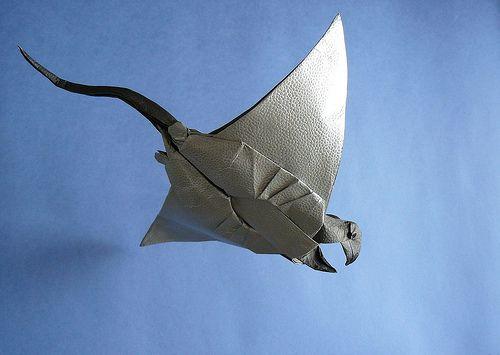 yoshino issei manta ray art handmade pinterest origami rh pinterest com  origami manta ray instructions