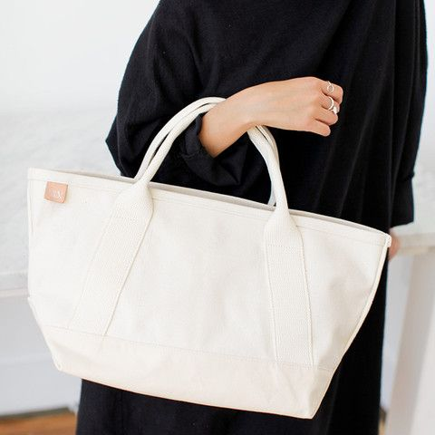 All Canvas Tote in Natural (Medium)