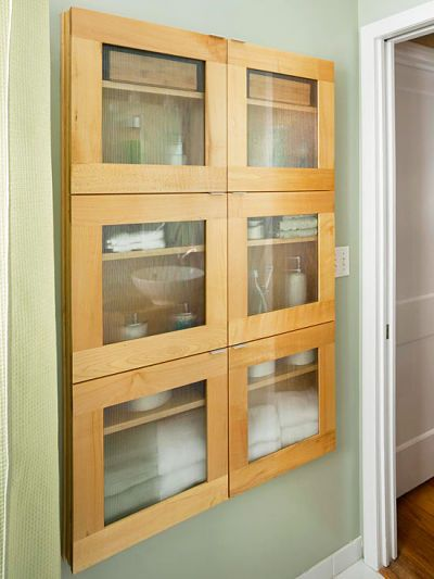 Shallow Built In Cabinets For Behind The Doors In The