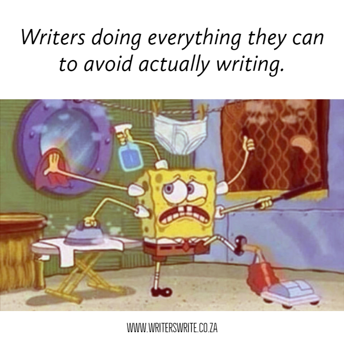 Image result for writers avoiding writing cartoon