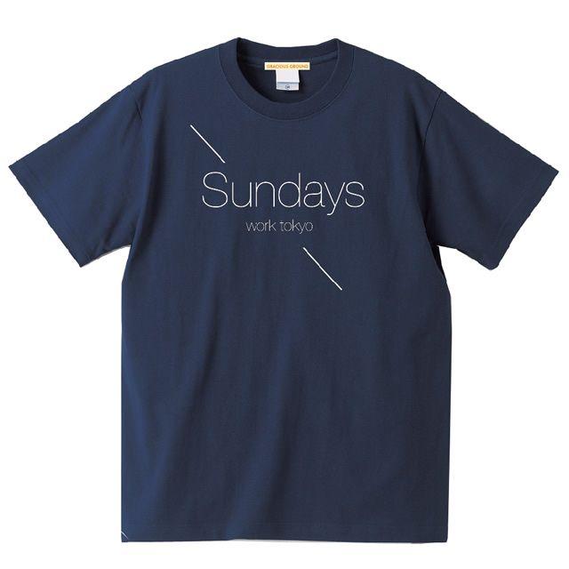 【楽天市場】5.6oz プリントTシャツ 半袖|Sundays Work TOKYO(サンデーズワークトーキョー)ロゴ|XS~Lサイズ、メンズ・レディース、お揃い・ペアルック◎|GRACIOUS GROUND (グレイシャス グラウンド)|【メール便、レターパック対応】【auktn】05P23Sep15:Tシャツ通販のGRACIOUS GROUND