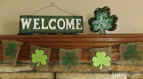 3 Easy steps to a burlap St. Patrick's Day banner