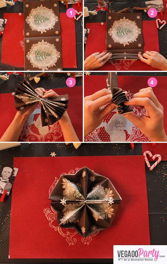 20 Serviettes En Papier Chalet De Noël 40 X 40 Cm Pliage
