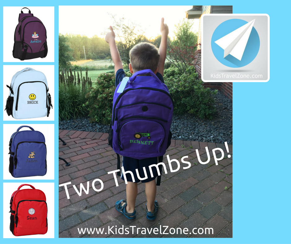 Kids Travel Zone Gets Two Thumbs Up Kids Backpacks Pinterest