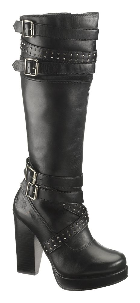 663a8b818a5 83546 - Harley-Davidson® Womens Karlia Black Leather High Cut Boot -  Barnett Harley-Davidson®