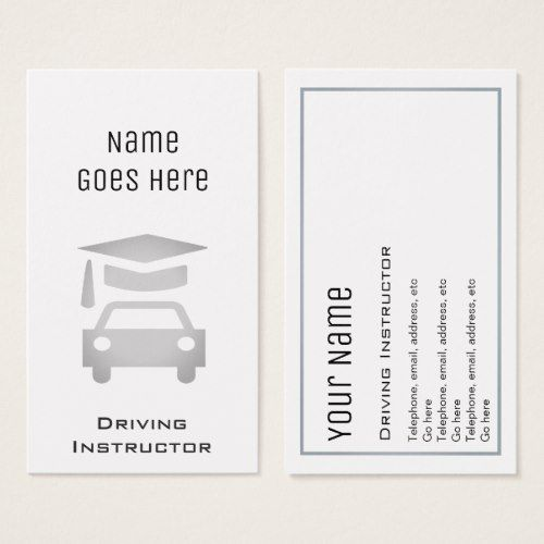 Essential Driving Instructor Business Cards Zazzle Com Printing Business Cards Driving Instructor Business Cards